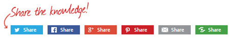 Sharing buttons - social media integration for your website