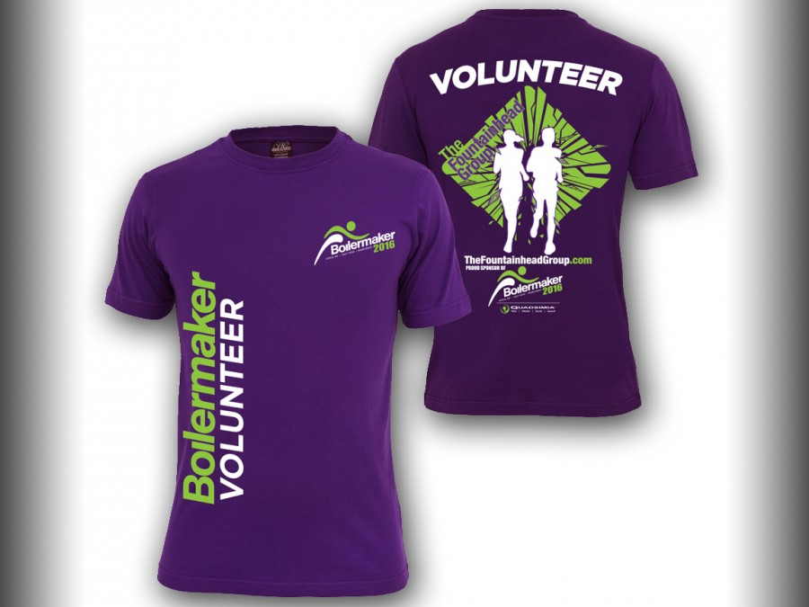 The Fountainhead Group Volunteer T-Shirt for the Boilermaker Road Race